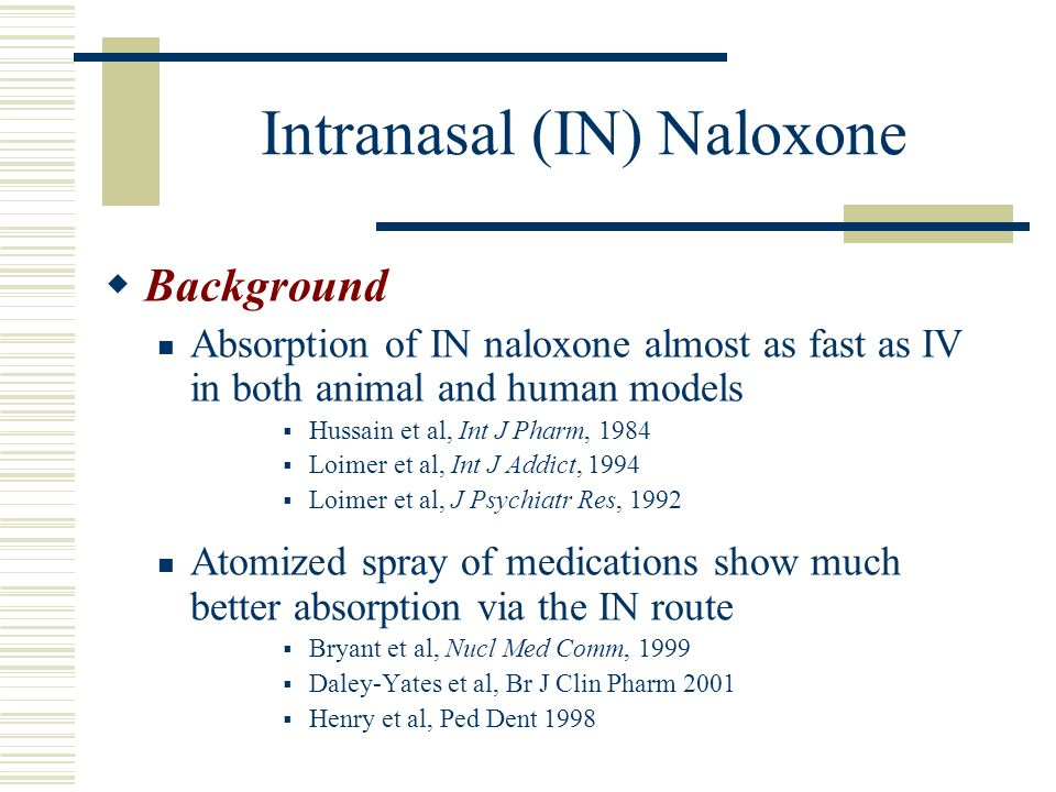 Intranasal (IN) Naloxone