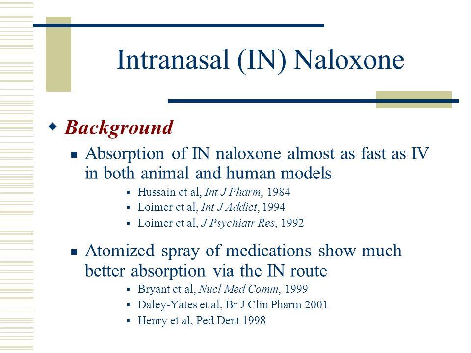 Intranasal (IN) Naloxone