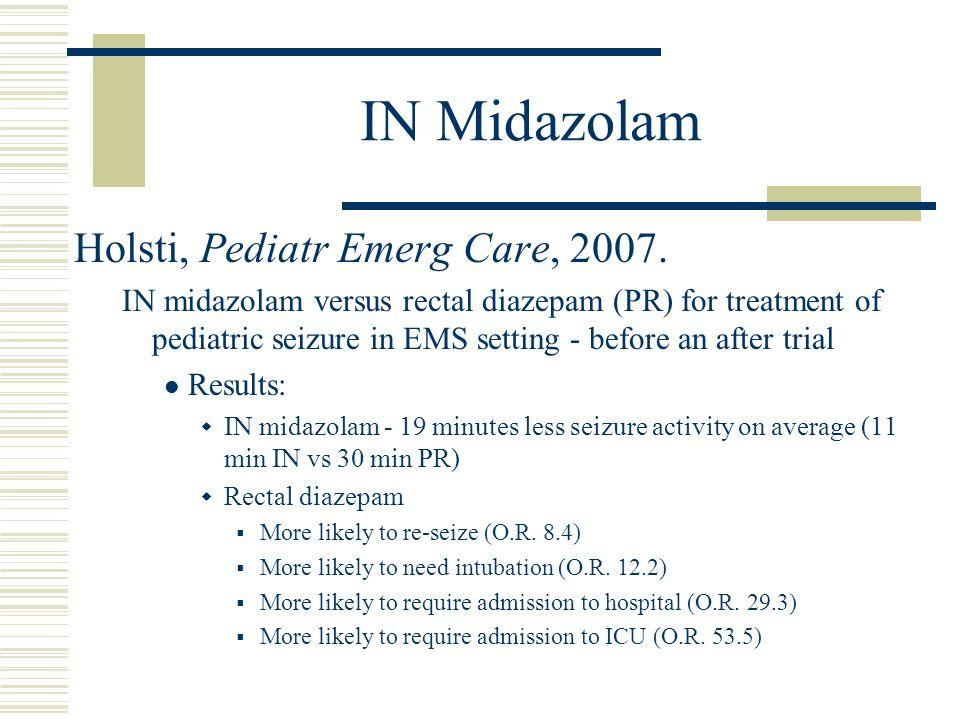 IN Midazolam Holsti, Pediatr Emerg Care, 2007.