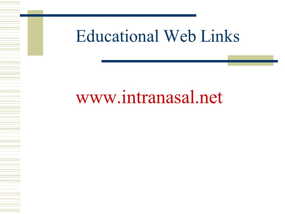 Educational Web Links