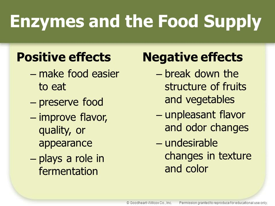 enzymes in food production Enzymes for food manufacturing - culinary enzymes for food manufacturing - enzymes are used in many aspects of food production, both on an artisan level and large.