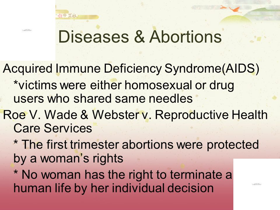 Diseases & Abortions Acquired Immune Deficiency Syndrome(AIDS)