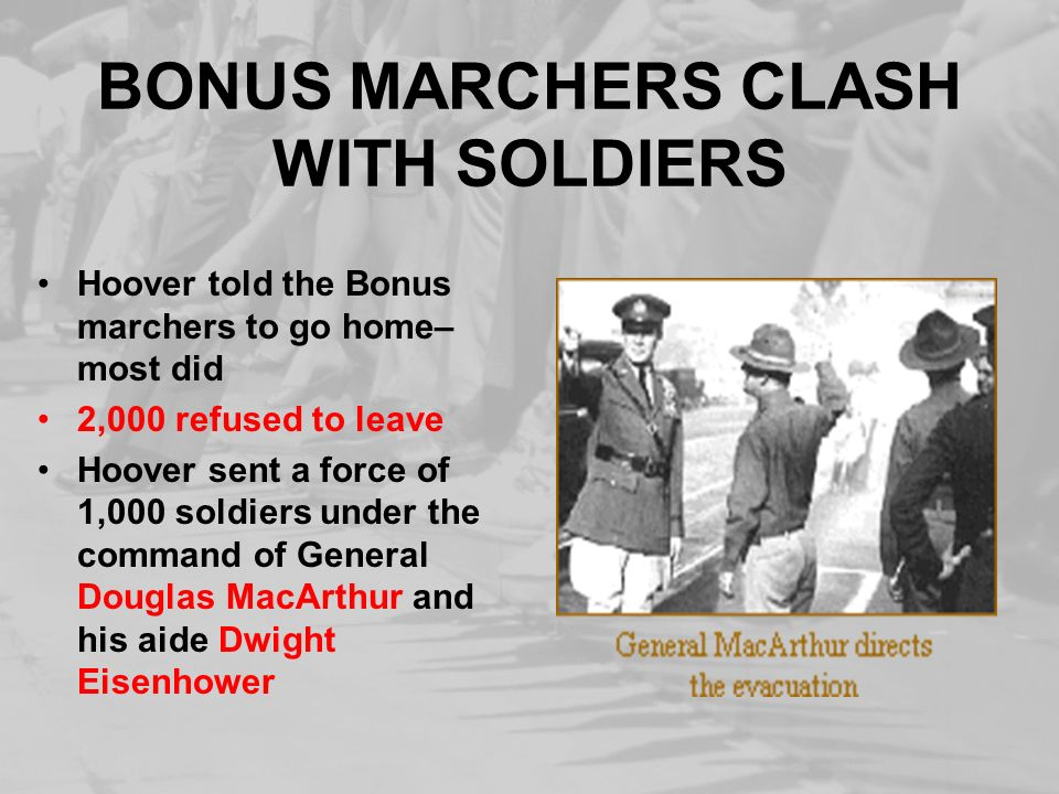 BONUS MARCHERS CLASH WITH SOLDIERS