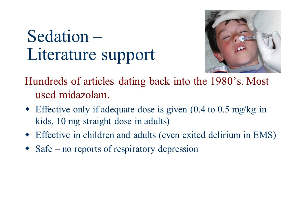 Sedation – Literature support