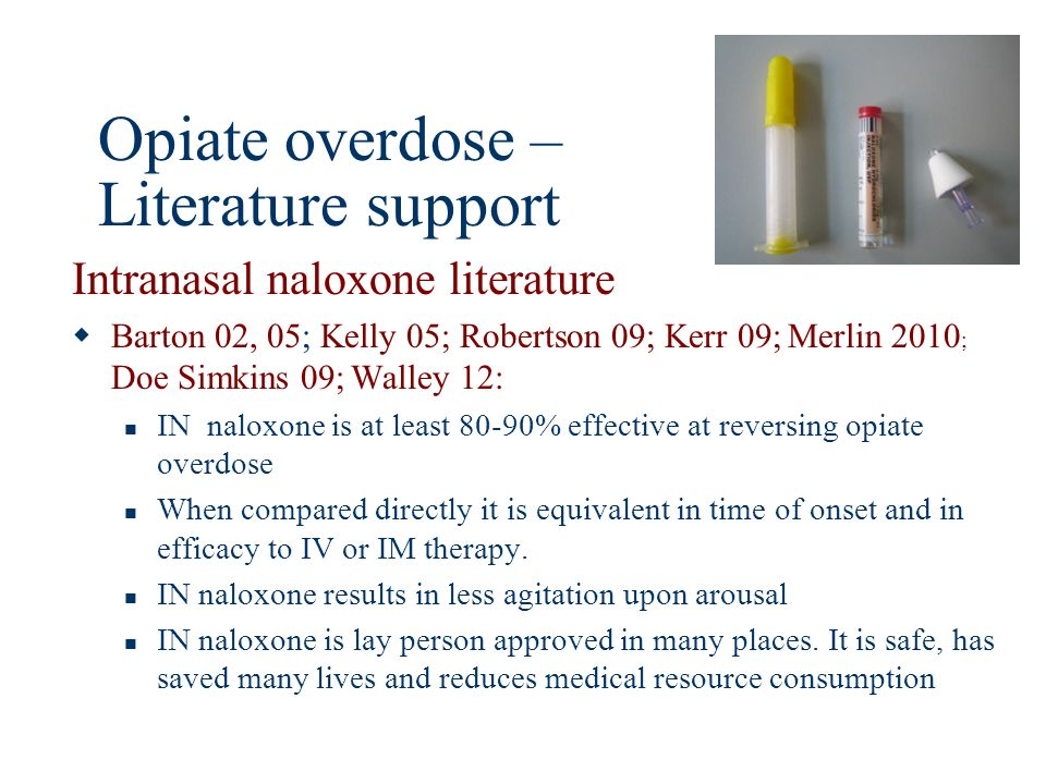 Opiate overdose – Literature support
