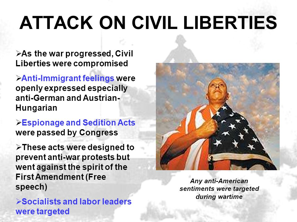 ATTACK ON CIVIL LIBERTIES