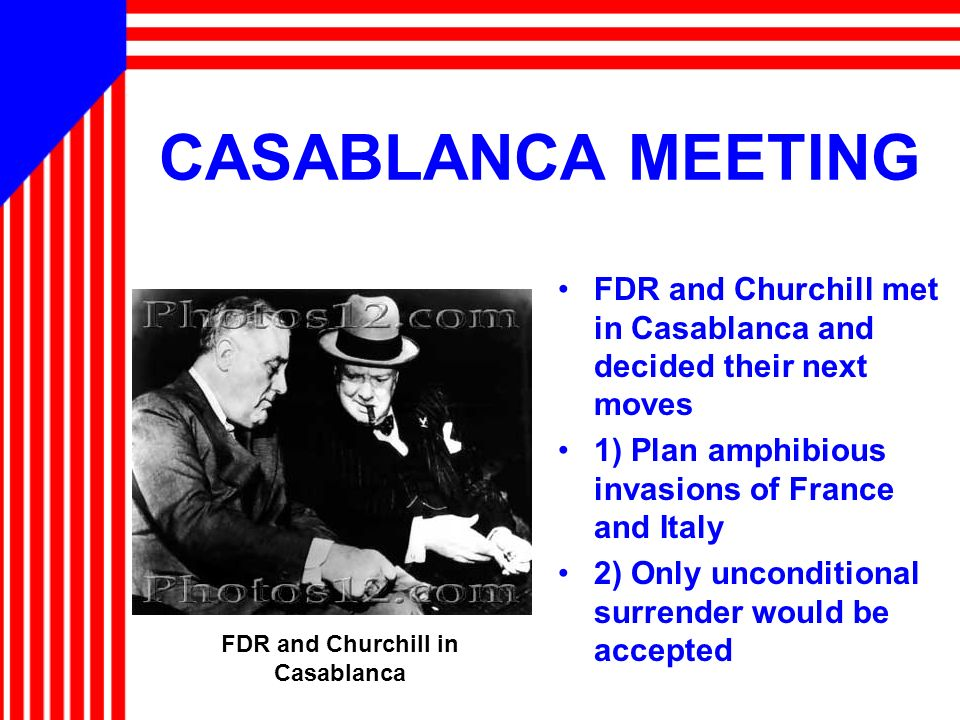 FDR and Churchill in Casablanca