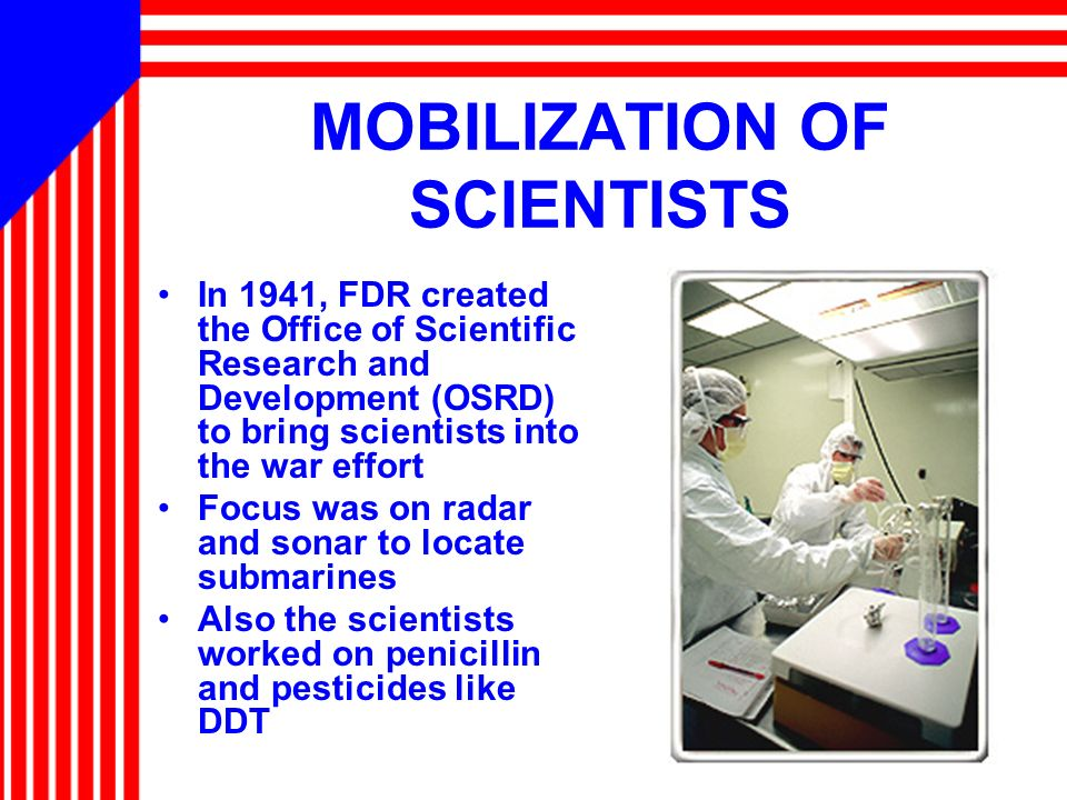 MOBILIZATION OF SCIENTISTS