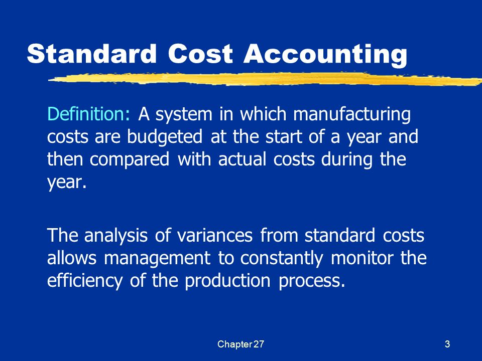 Budgeting And Standard Cost Accounting Ppt Video Online