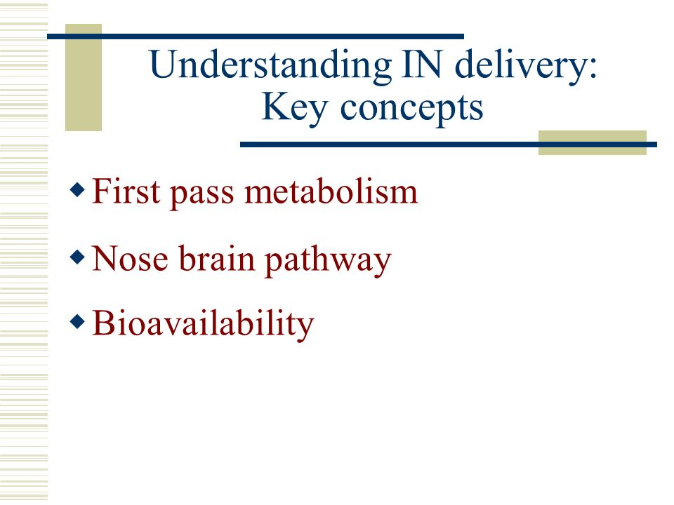 Understanding IN delivery: Key concepts