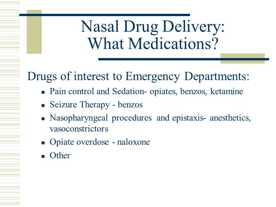 Nasal Drug Delivery: What Medications