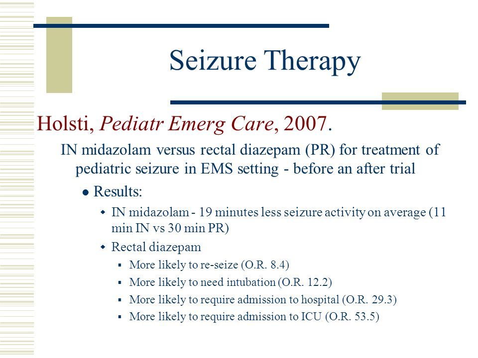 Seizure Therapy Holsti, Pediatr Emerg Care, 2007.
