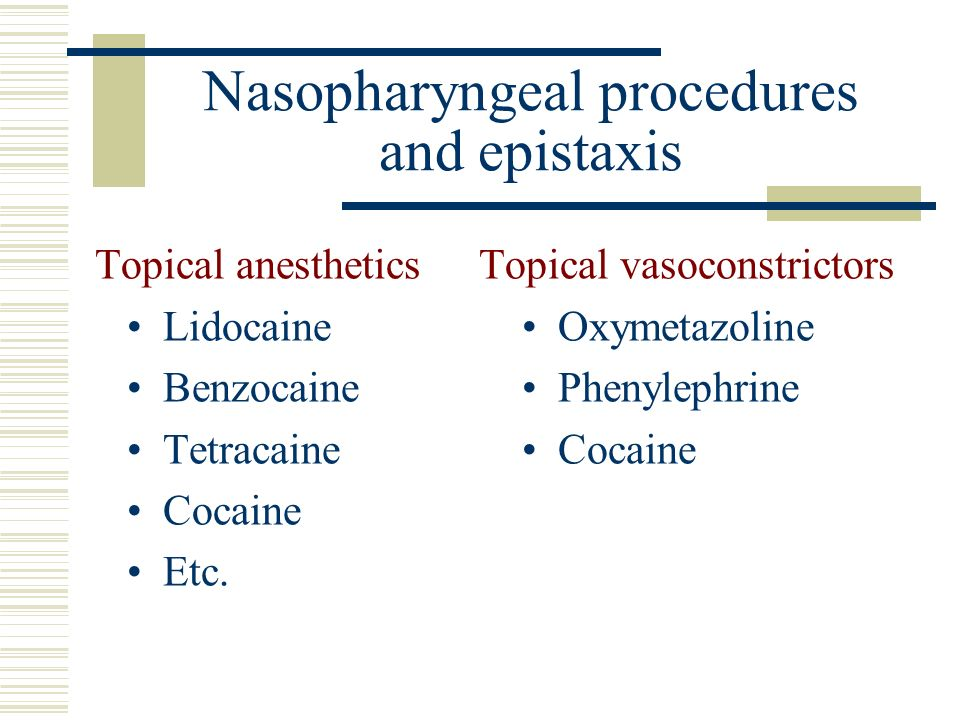 Nasopharyngeal procedures and epistaxis