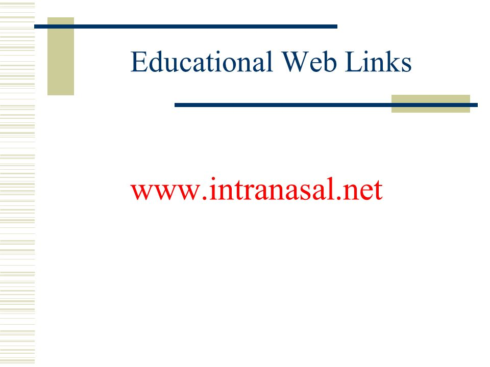 Educational Web Links www.intranasal.net