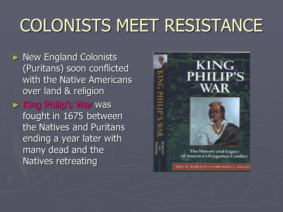 COLONISTS MEET RESISTANCE