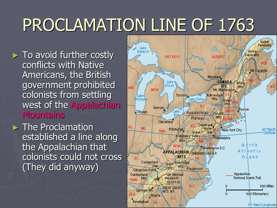 PROCLAMATION LINE OF 1763