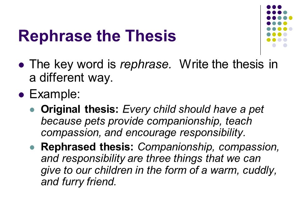 keywords to use in a thesis statement Answer to thesis statement: keywords: (what are the main words that describe your subject and what you want to say about it) syn.