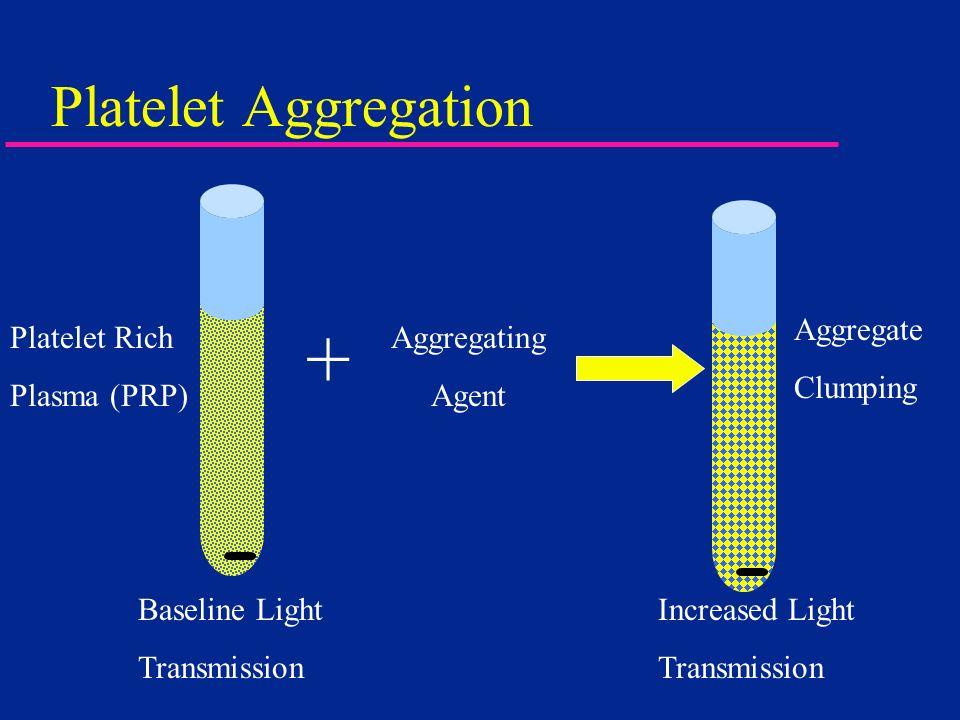 + Platelet Aggregation Aggregate Clumping Platelet Rich Plasma (PRP)