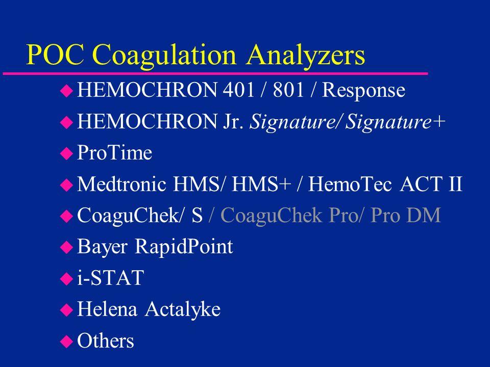 POC Coagulation Analyzers