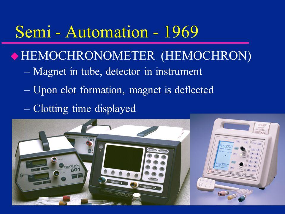 Semi - Automation - 1969 HEMOCHRONOMETER (HEMOCHRON)