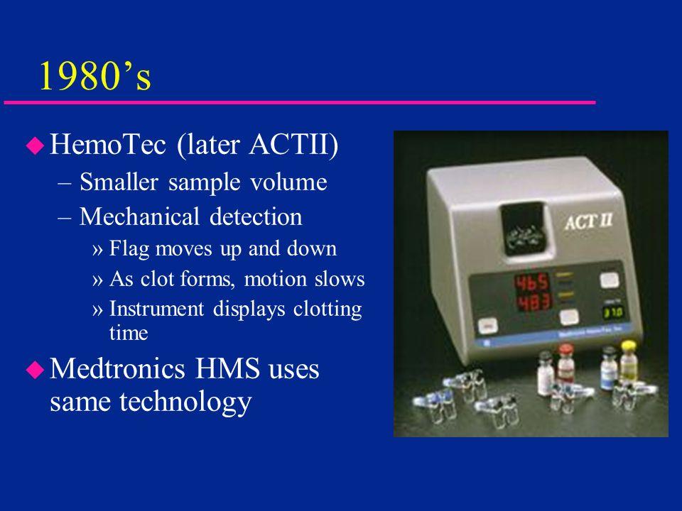1980's HemoTec (later ACTII) Medtronics HMS uses same technology