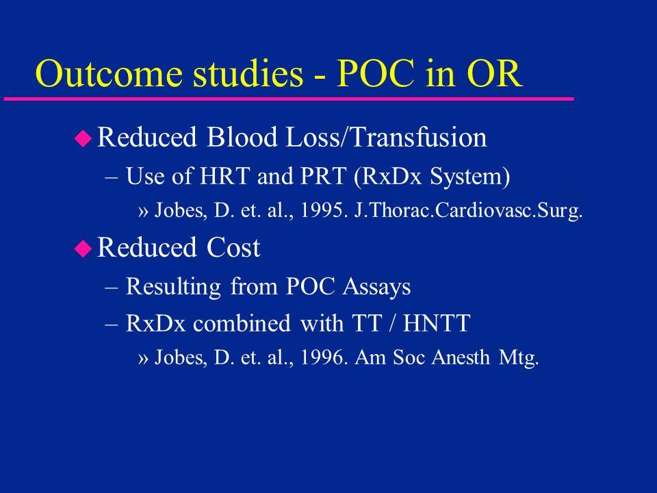 Outcome studies - POC in OR