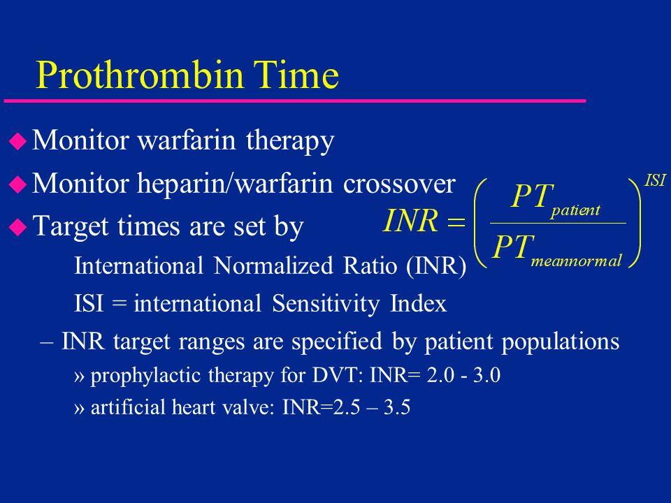 Prothrombin Time Monitor warfarin therapy