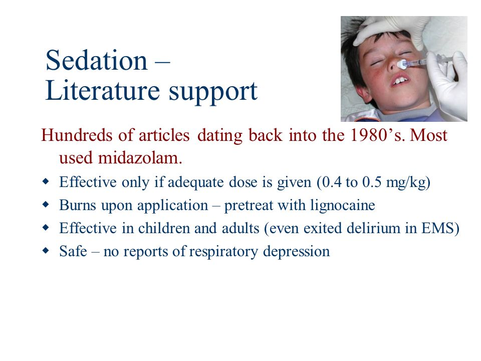 Sedation – Literature support