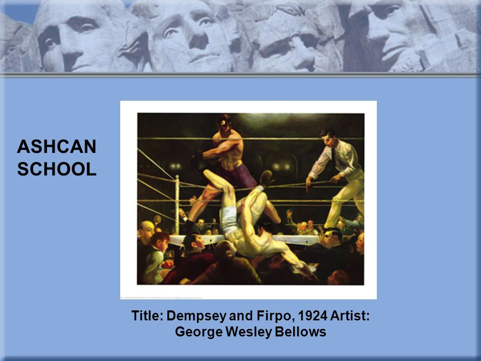 Title: Dempsey and Firpo, 1924 Artist: George Wesley Bellows
