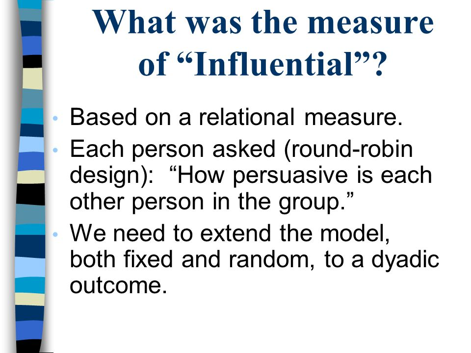 What was the measure of Influential
