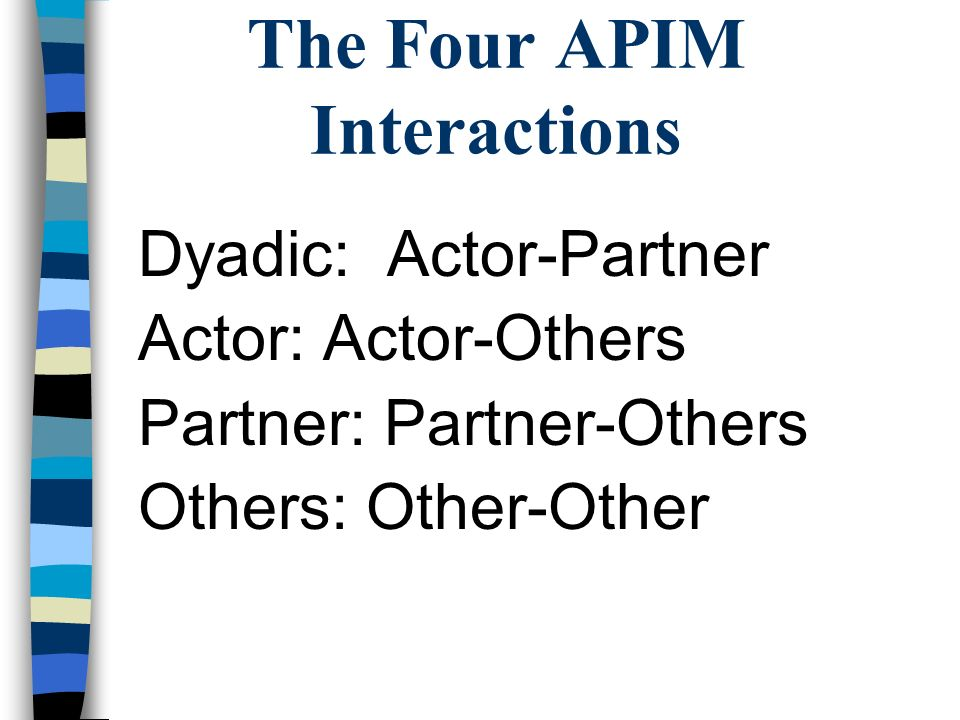 The Four APIM Interactions