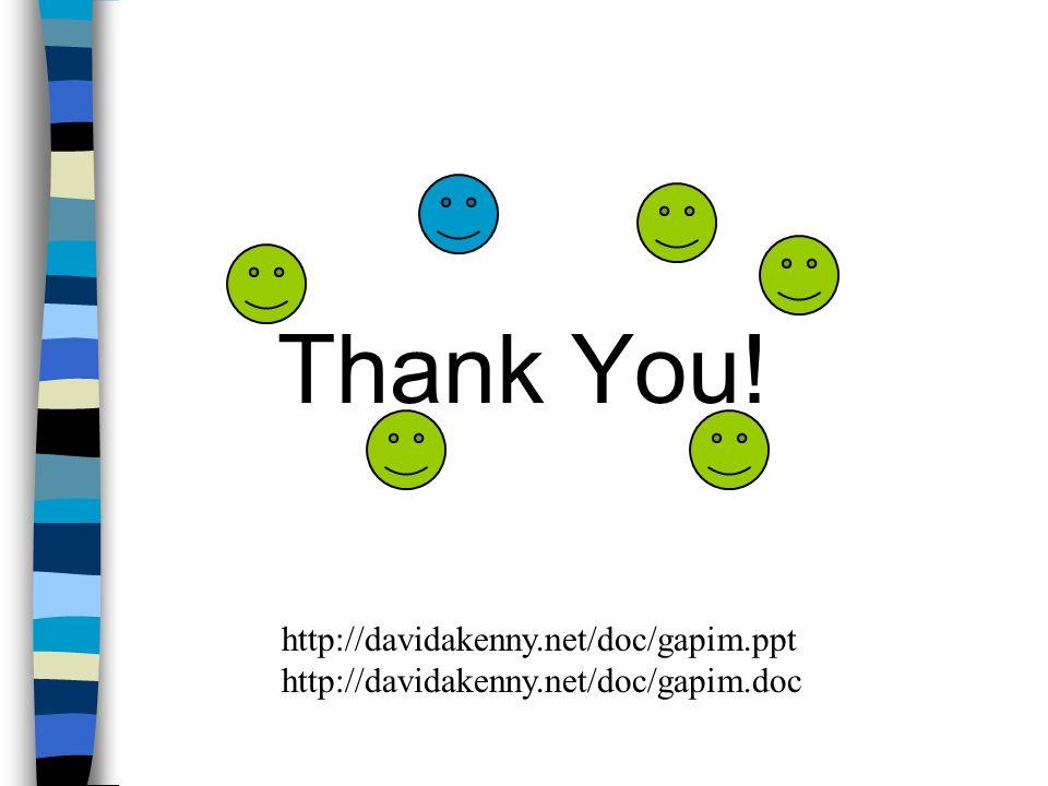 Thank You! http://davidakenny.net/doc/gapim.ppt