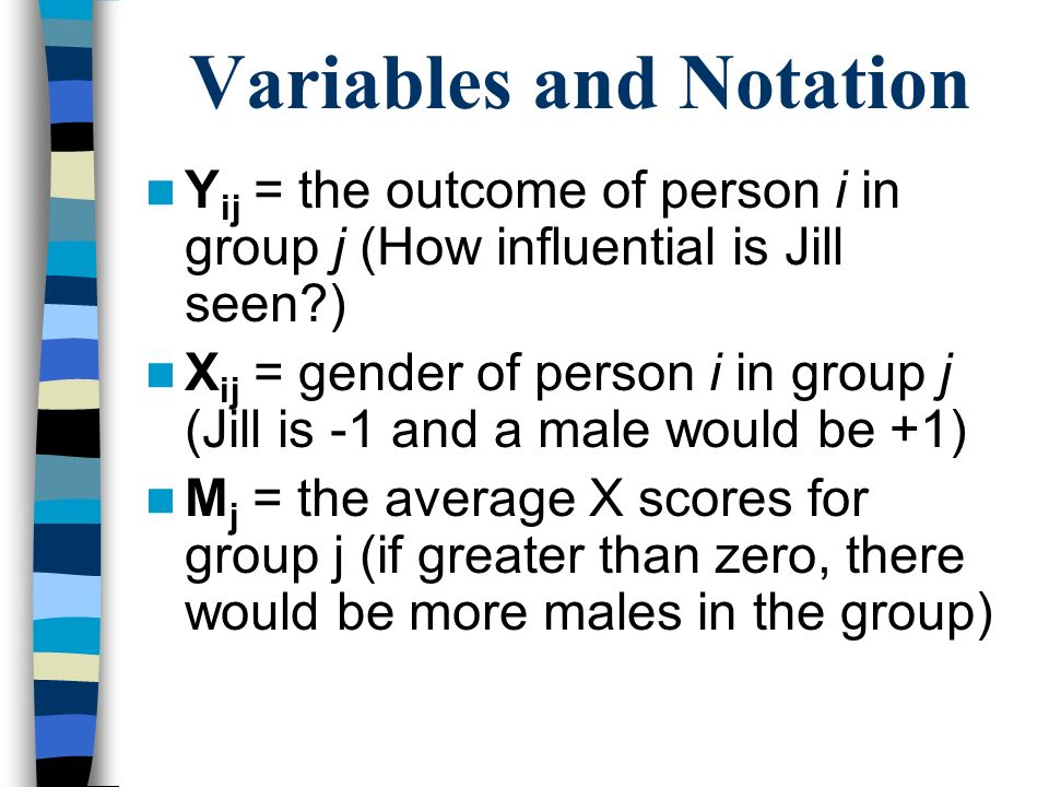 Variables and Notation
