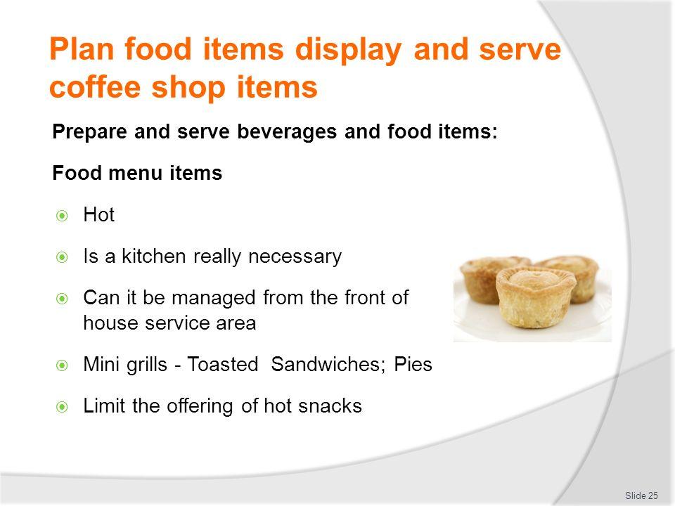 Basic Coffee House Food Menu Items