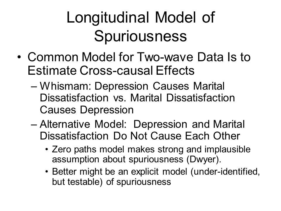 Longitudinal Model of Spuriousness