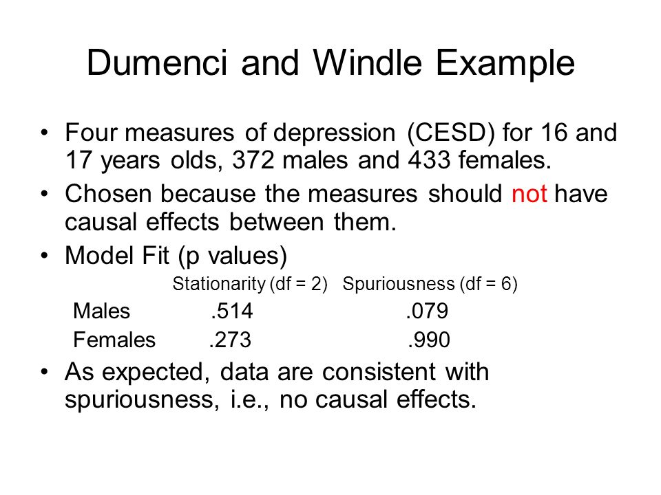 Dumenci and Windle Example