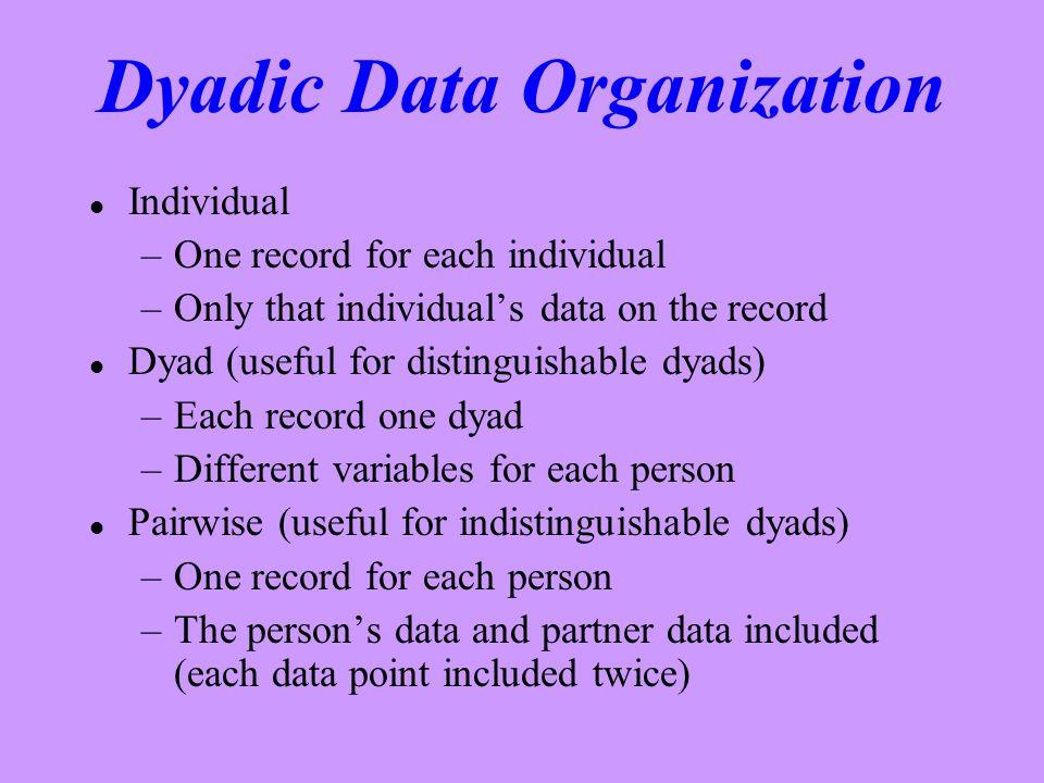 Dyadic Data Organization
