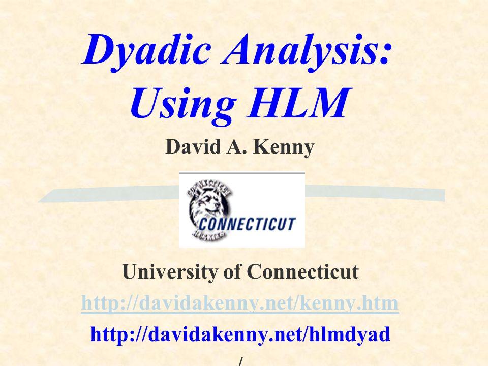 Dyadic Analysis: Using HLM