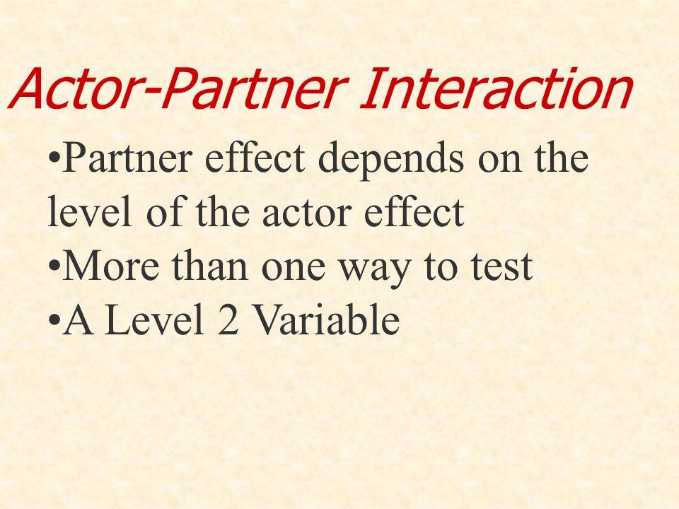 Actor-Partner Interaction