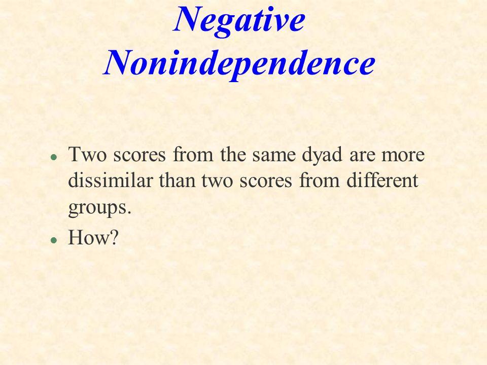 Negative Nonindependence