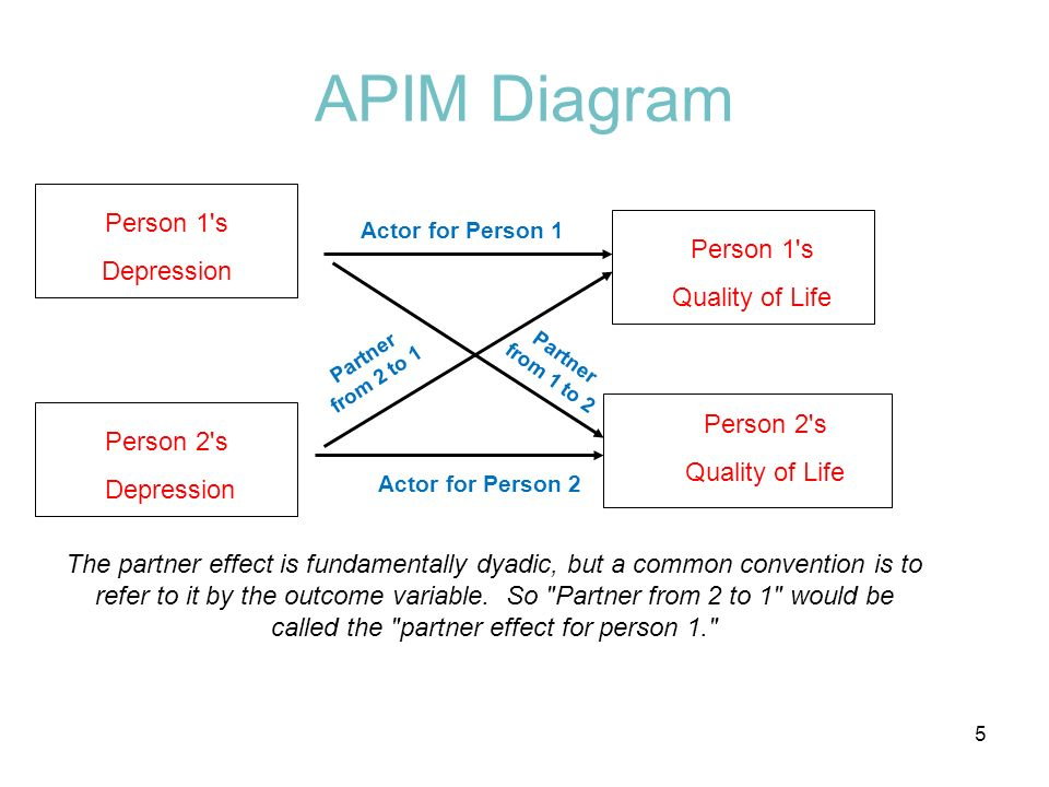APIM Diagram Person 1 s Depression Person 1 s Quality of Life