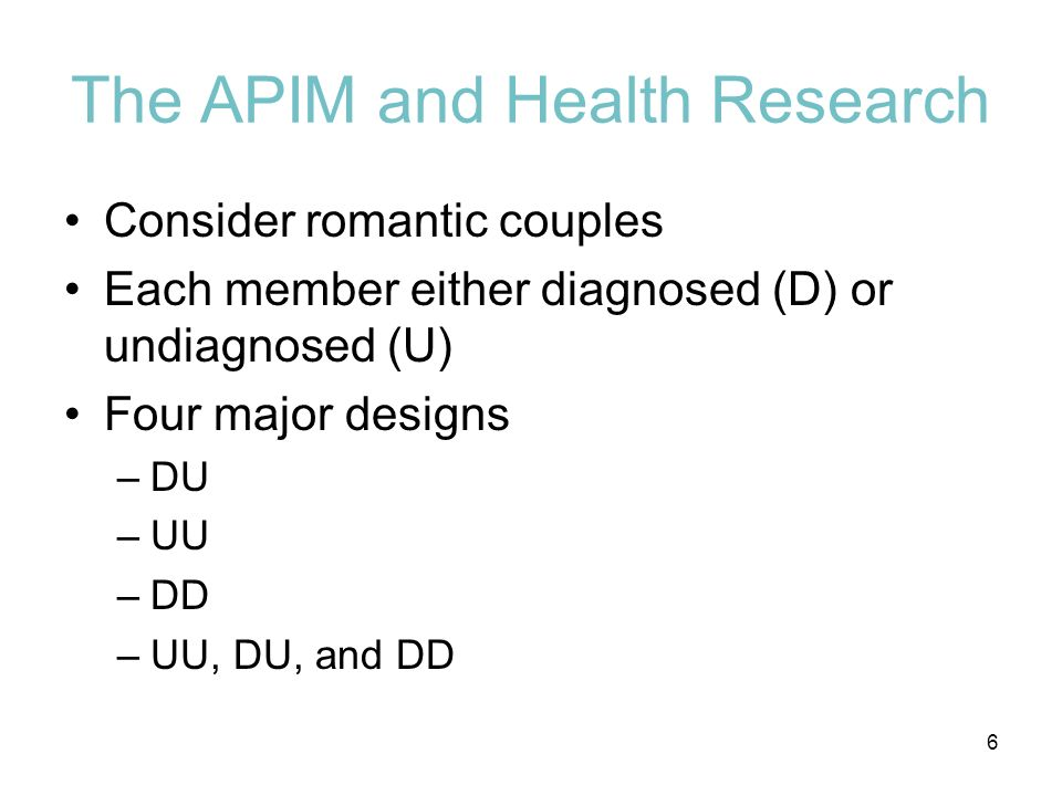 The APIM and Health Research