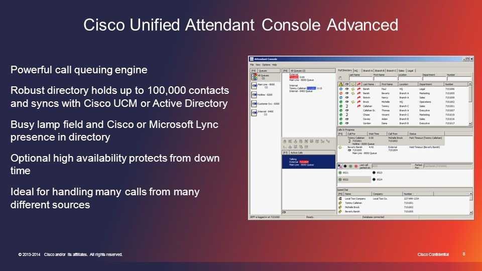 Cisco Unified Enterprise Attendant Console User Guide 8