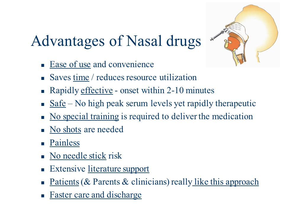 Advantages of Nasal drugs