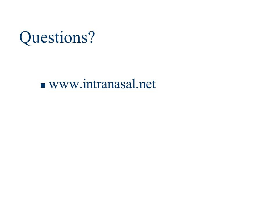 Questions www.intranasal.net