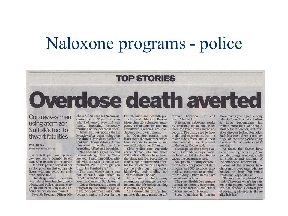 Naloxone programs - police