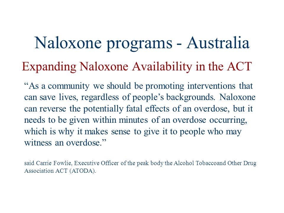 Naloxone programs - Australia