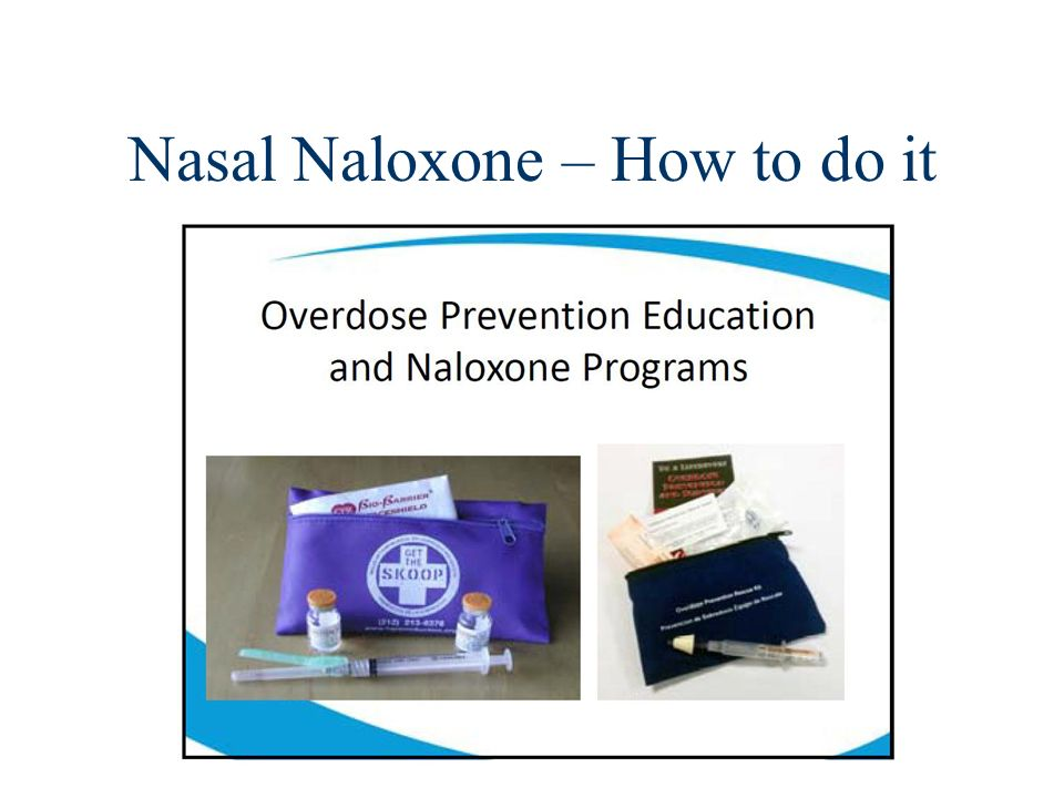 Nasal Naloxone – How to do it