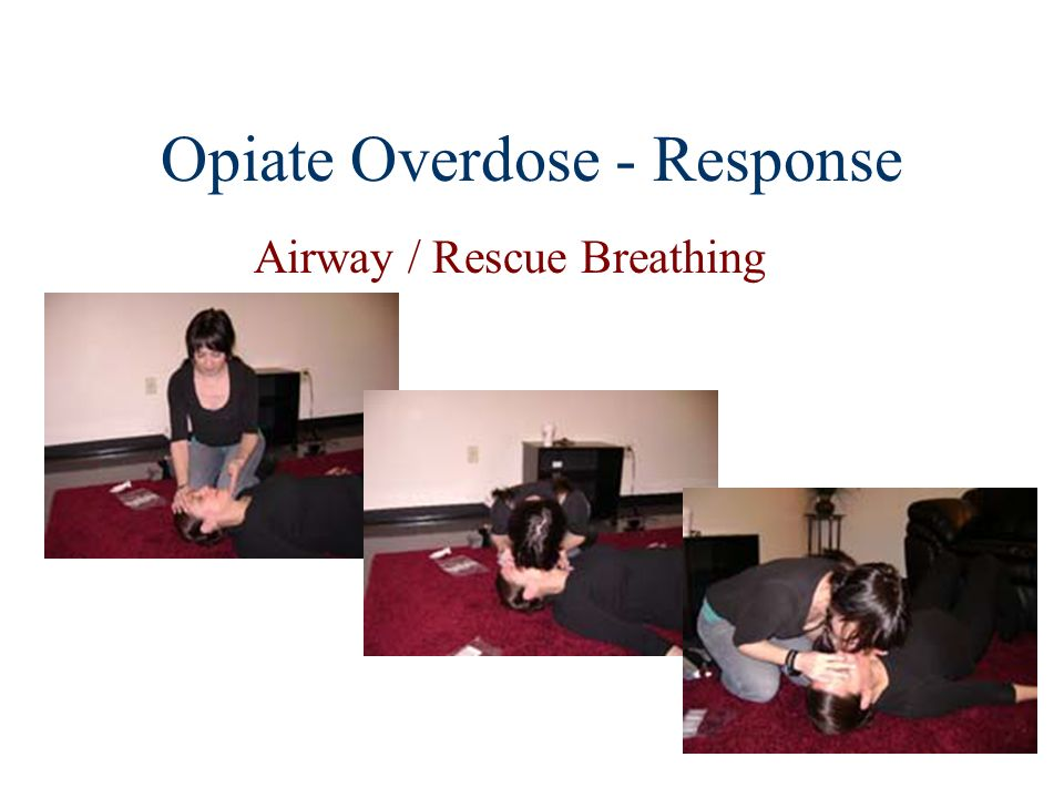 Opiate Overdose - Response