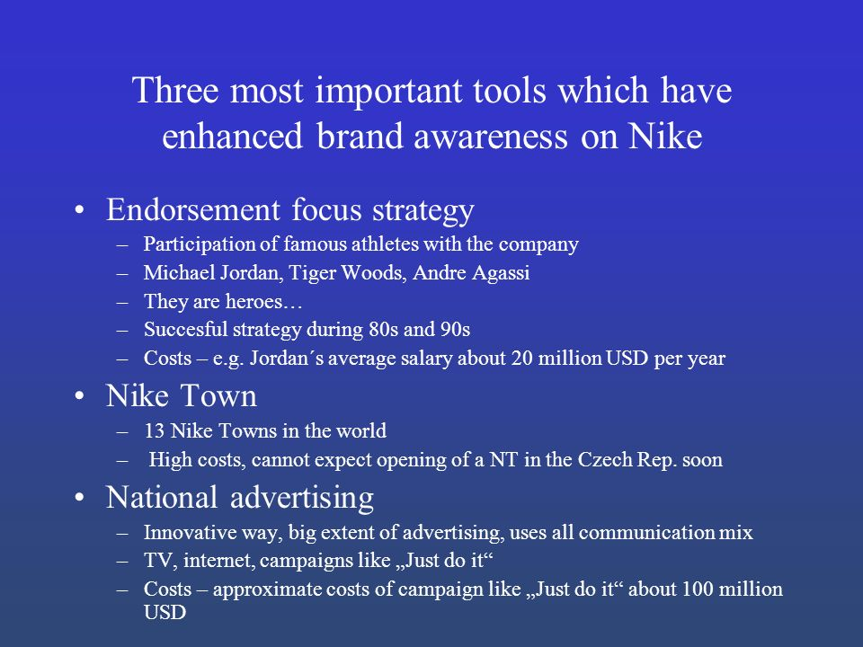 nike brand awareness Nike, inc (official, us: / as of 2017, the nike brand is valued at $296 billion the company was founded on january 25, 1964, as blue ribbon sports.